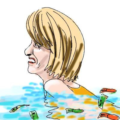 Alice Schwarzer schwimmt im Geld