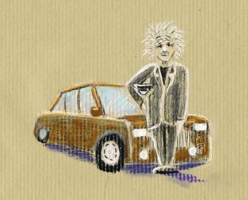 Einstein als Chauffeur, der Switch, l'anecdote