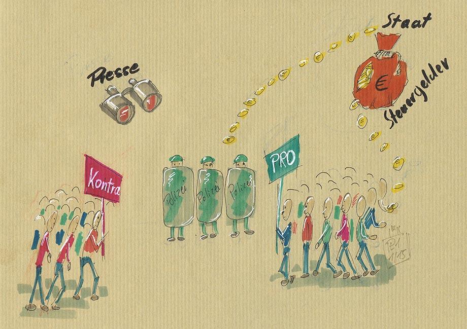 Ist das wahr? Bezahlte Demonstranten?